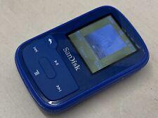 SanDisk Clip Sport Plus 16GB MP3 Player SDMX28 BLUE