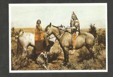 POSTCARD NATIVE AMERICAN AMERICA Gray Eagle Pi- UTE horse horse caballo pferde