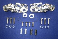 1960-1964 GM Convertible Sun Visor Supports & Stainless Steel Screw Mounting Kit