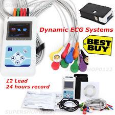 CE ecg holter ecg (elettrocardiogramma 12 canale 24 ore registratore & software