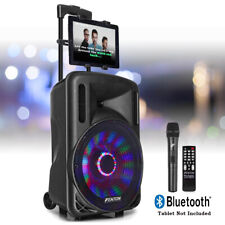 More details for 12-led karaoke machine speaker set system, wireless microphone lights, bluetooth
