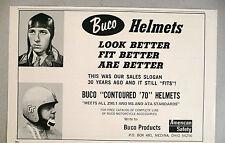 Buco Motorcycle Helmets PRINT AD - 1970 ~~ helmet, Buco Products