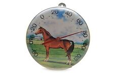 Vintage Jumbo Dial Thermometer Wall Mount Horse Farm 49571