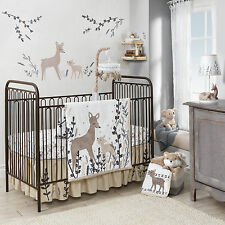 Lambs & Ivy 4 Piece Baby Nursery Crib Bedding Set Meadow with Bumper NEW