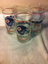 (3)  CHICAGO BEARS GLASSES--- NFL-- --FREE SHIP--VGC