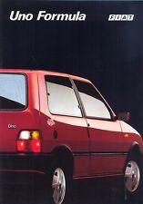 Fiat Uno Formula 1.4 petrol & diesel Italian market 1992 colour sales brochure