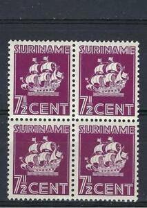 Suriname 1936 Sc# 151 Van Walbeeck Ship  Dutch colony block 4 MNH