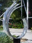 Metal Garden Sculpture Modern Art Silver Yard Decor Home Decor Signed Jon Allen