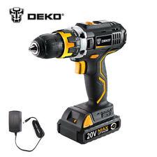 DEKO 20V DC Li-Ion Battery 1/2'' Cordless 2-Speed Drill Driver Work Light