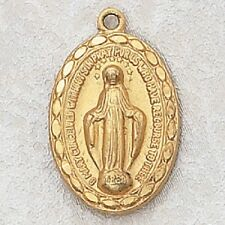 Gold & Sterling Silver Miraculous Catholic Gift Medal Pendant Charm Christian