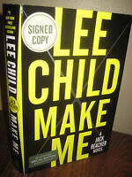 Signed 1st Edition Make Me Lee Child Jack Reacher First Printing Mystery Novel