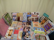huge lot cross stitch patterns books cards country omni christmas animals+ more