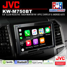 "JVC KW-M750BT 6.8"" Mechless 2-DIN AV Receiver w/ Apple CarPlay/Android Auto/BT"
