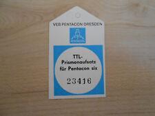 TTL Prismenaufsatz für Pentacon six