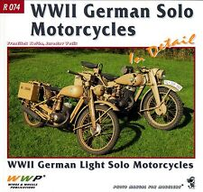 WWII German Light Solo Motorcycles In Detail: WWP R 074