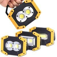 30W Portable USB COB LED Flood Light Outdoor Camping Spot Work Lamp Power Bank