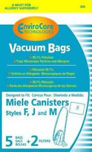 EnviroCare Replacement Bags for Miele F J M Microfiltration Vacuum Bags - 10 Bag