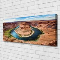Canvas print Wall art on 125x50 Image Picture Grand Canyon River Landscape