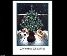 COBAYE Art Carte de Noël faite main Pailleté De Peinture Suzanne Le Good