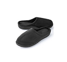 Unisex  Memory Foam Slippers Sharper Image Gray Color Sz M - Free Ship