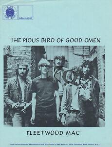 Fleetwood Mac - The Pious Bird Of Good Omen - 1969 [Holland/UK] - Press Kit
