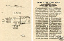 LIE DETECTOR US Patent Art Print READY TO FRAME! 1931 Blood Pressure test