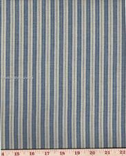 Dunroven House H-707PB  Homespun Providence Blue Ticking Fabric 1/2 Yd Cut