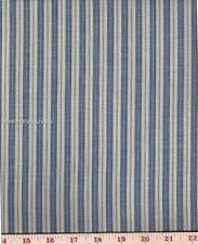 Dunroven House H-707PB  Homespun Providence Blue Ticking Fabric 1/2 Yd Cut