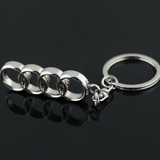 3D CAR Key Chain Metal Double Sides LOGO Keychain Key Ring FOR AUDI