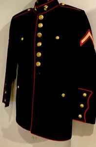 USMC US MARINE CORPS UNIFORM DRESS BLUES JACKET MARINES TUNIC 40 R  EXCELLENT