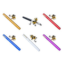 Telescopic Mini Portable Pocket Fish Aluminum Alloy Pen Fishing Rod Pole Reel