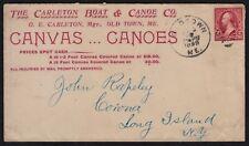 1899 CANVAS CANOES ADV. CVR. CARLETON BOAT & CANOE CO, OLD TOWN, ME. 16 FT, $18
