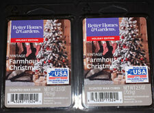 Better Homes & Gardens Scented Wax Cubes VINTAGE FARMHOUSE CHRISTMAS / 2 Packs