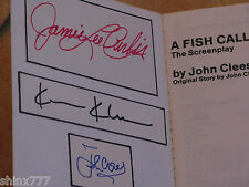 A Fish Called Wanda Book Signed By John Cleese, Jamie Lee Curtis+Kevin Kline
