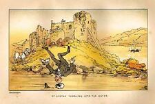 "Dr. Syntax in Search - ""SYNTAX TUMBLING INTO THE WATER - Chromolithograph - 1869"