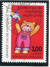 TIMBRE FRANCE OBLITERE N° 3124 PROTECTION DE L'ENFANCE / Photo non contractuelle