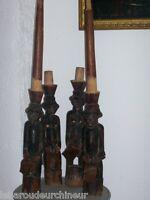 ancienne 4 statuettes époque coloniale art premier african art