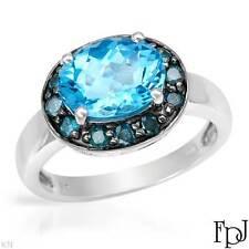 FPJ 3.38 CTW Topaz 10k White Gold Ring Size 7/ 3.7g  * Includes COA *