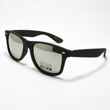Classic Skater's Sunglasses Mirror Lens Shades for Men & Women MATTE BLACK New