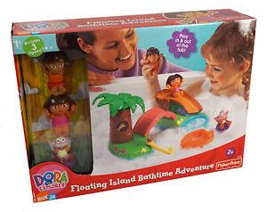 Dora the Explorer Floating Island Bath Time Adventure ~ Includes 3 Figures ~ NEW