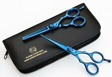 """5.5"""" Professional Barber Hairdressing Salon Thinning & Haircutting Scissor Blue"""