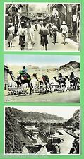 #J. THREE  1937  ADEN   POSTCARDS - CAMELS, WATER TANKS etc
