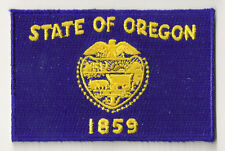 PP-369 Ecusson brodé écusson patche patch drapeau OREGON thermocollant