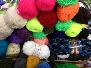 JOB LOT 18 odd balls of hand knitting WOOL yarn SALE NEW stock clearance lot 03