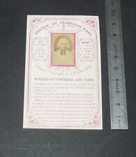 CHROMO 1920 IMAGE PIEUSE CATHOLICISME HOLY CARD PELERINAGE VIANNEY CURE D'ARS
