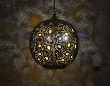 Brass moroccan chandeliers ceiling fixtures ebay chandelier pendant aloadofball Image collections