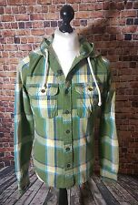 MENS HOLLISTER HOODIE SHIRT TOP ORIGINAL CHECKED HOODED GREEN SMALL CHECK