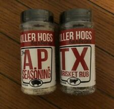 "Killer Hogs ""Malcom Reeds"" TX Brisket Rub & AP Seasoning -2  16oz. Shakers"
