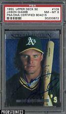 1995 Upper Deck SE #109 Jason Giambi A's Signed AUTO PSA 8 PSA/DNA AUTHENTIC