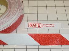"""Red White Truck Step Tread Edge Safety Tape Anti-Slip Grit 1""""-Wide 6-Ft/Lot G43"""
